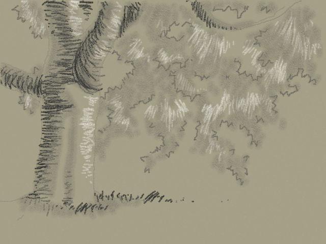 新絵心教室 レッスン2:木