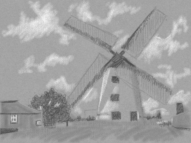 新絵心教室 レッスン4:風車